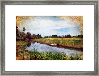 Waterway Framed Print by Margaret Hormann Bfa