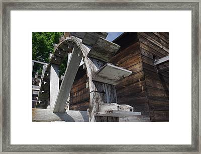 Framed Print featuring the photograph Waterwheel by David Rizzo