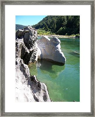 Framed Print featuring the photograph Waterworn Rocks by Peter Mooyman