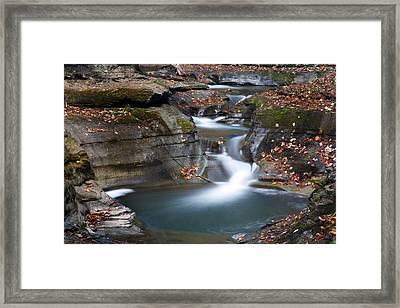 Watkins Glen Falls Framed Print by Jeff Bord