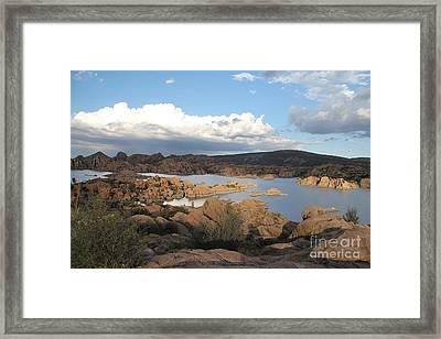 Watson Lake 2 Framed Print by Diane Greco-Lesser
