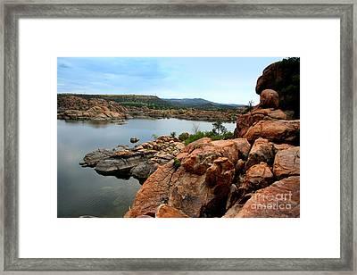 Watson Lake  Framed Print by Julie Lueders