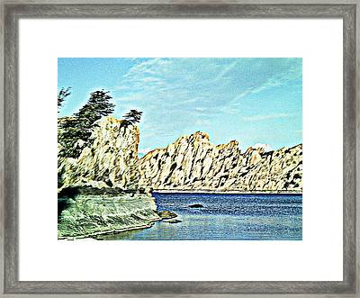 Watson Lake Framed Print by Lisa Wells