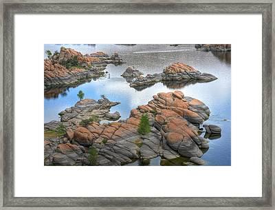 Watson Lake Framed Print by Michael Biggs