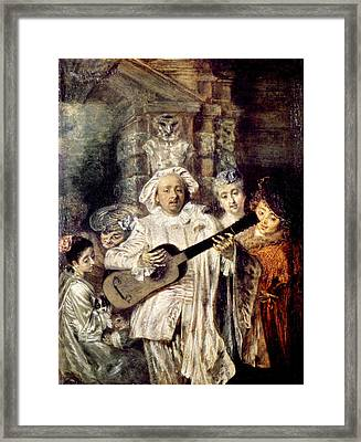 Watteau: Gilles & Family Framed Print by Granger