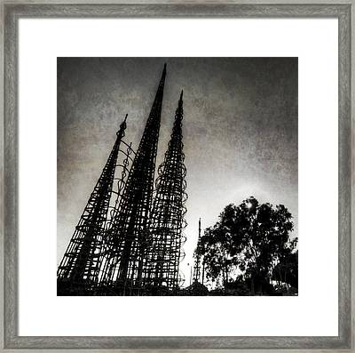 Watts Towers Framed Print by Natasha Bishop