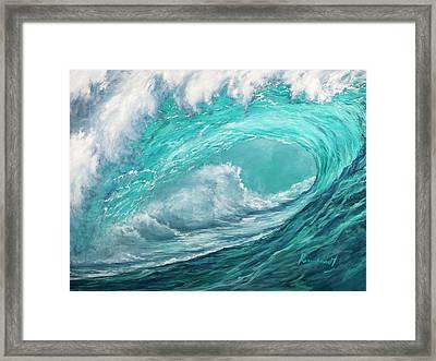 Wave 10 Framed Print by Lisa Reinhardt