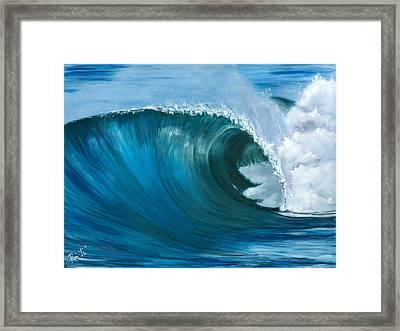 Wave 2 Framed Print by Lisa Reinhardt