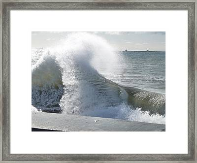 Wave And Wind Framed Print
