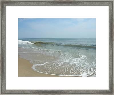 Framed Print featuring the photograph Wave by Arlene Carmel