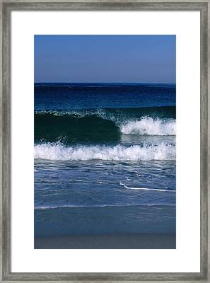 Wave Breaking Left On The Beach At 17 Framed Print by James Forte
