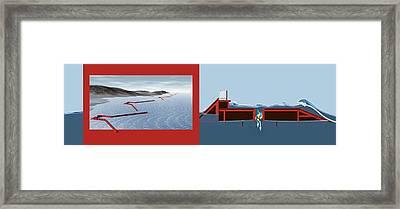 Wave Energy Converter, Diagram Framed Print by Claus Lunau
