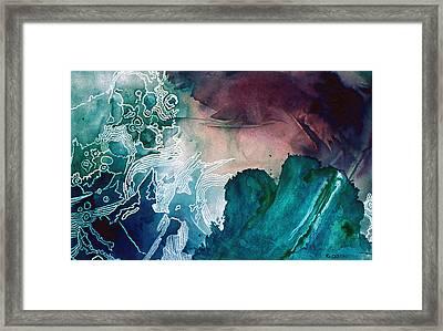Wave Framed Print by Eunice Olson