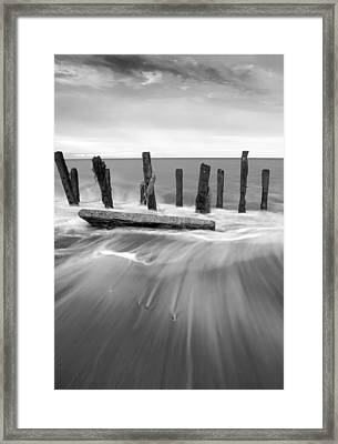 Wave In Black And White Framed Print by Svetlana Sewell