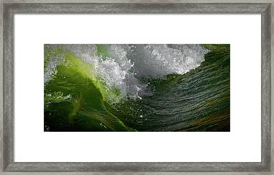 Wave In Motion Framed Print