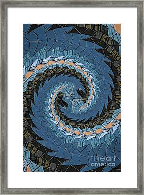 Wave Mosaic. Framed Print by Clare Bambers