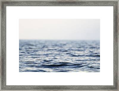 Wave On The Water Framed Print