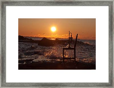 Wave Splash 1 Framed Print by Ron Smith