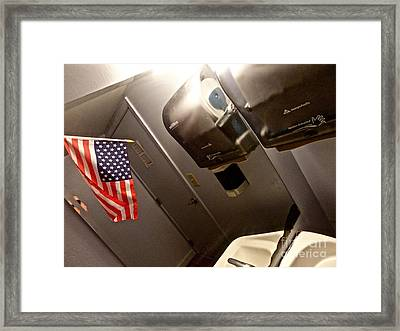 Wave That Flag Framed Print by Chuck Taylor