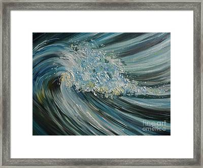 Framed Print featuring the painting Wave Whirl by Julie Brugh Riffey