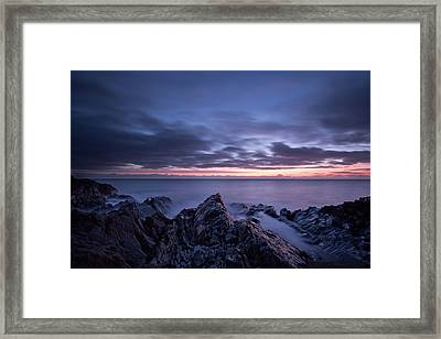 Wave Whispers At Dawn Framed Print