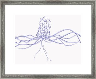 Framed Print featuring the digital art Waveflower by Kevin McLaughlin