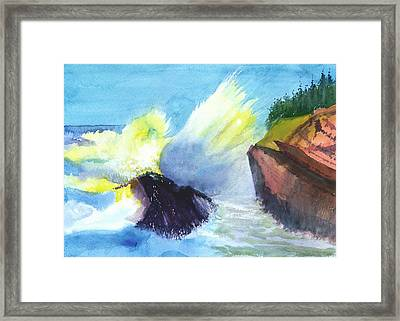 Waves 1 Framed Print by Anil Nene
