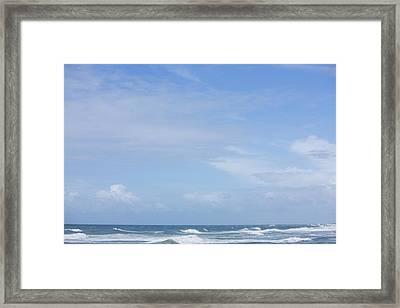 Waves And Sky Framed Print by David Freund