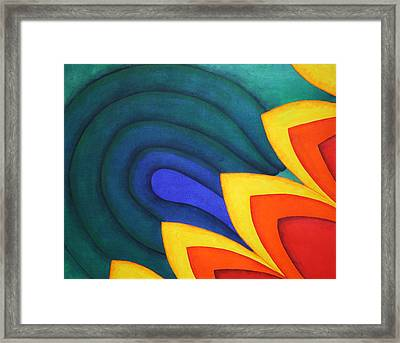 Waves And Tails Framed Print