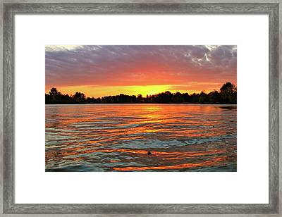 Waves And The Sun Framed Print by Mike Stouffer