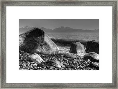 Framed Print featuring the photograph Waves At Diamond Beach by Michele Cornelius