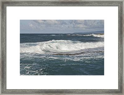 Waves Breaking 7952 Framed Print by Michael Peychich