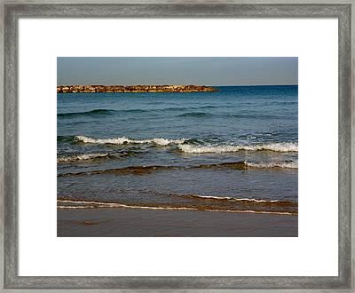 Waves Framed Print by Jennifer Wartsky
