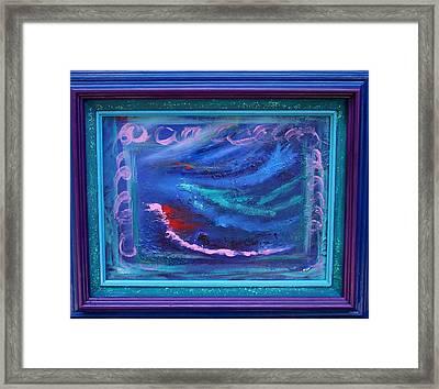 Waves Framed Print by Karin Eisermann
