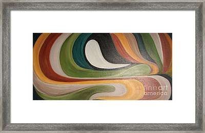 Waves Of Discontent Framed Print by Rachel Carmichael