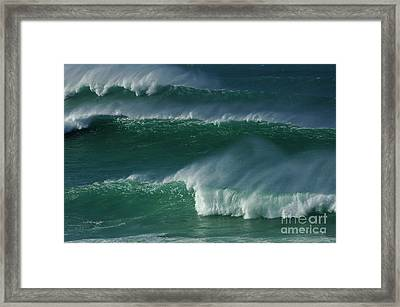 Waves Of Hawaii Framed Print by Bob Christopher