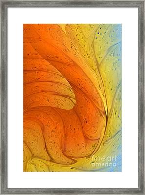Waves Of Sanity Framed Print by Deborah Benoit