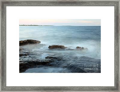 Waves On The Coast Framed Print by Ted Kinsman