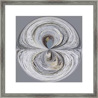 Waves Orb Framed Print