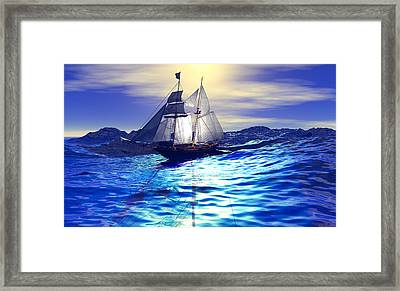 Waves Framed Print by Renee Fereira