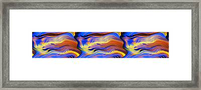 Waves Framed Print by Rick Thiemke