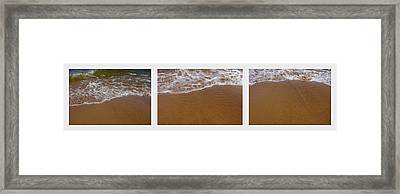 Waves Triptych Framed Print by Michelle Calkins