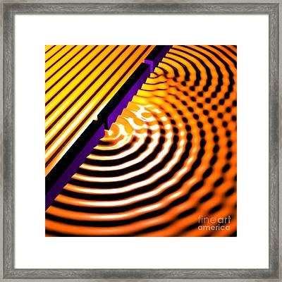 Waves Two Slit 2 Framed Print