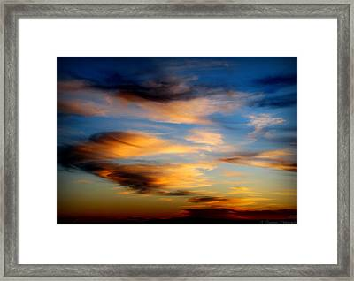 Wavy Sunset Clouds Framed Print by Aaron Burrows