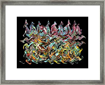 Wax On Iron Filings Morphed Framed Print by Carl Deaville