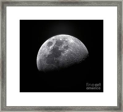 Waxing Gibbous Moon Framed Print by Roth Ritter