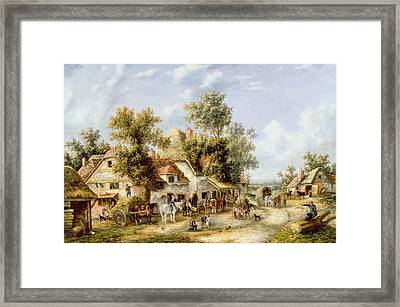Wayside Inn Framed Print by Georgina Lara