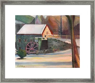 Wayside Inn Mill Framed Print by Sid Solomon