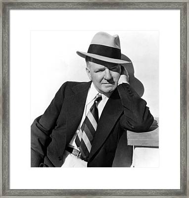 W.c. Fields Outside His Home Framed Print