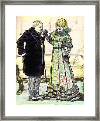 W.c.fields And Jan Framed Print by Mel Thompson